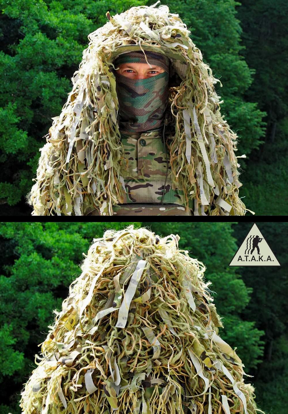 Ghost ~ Umhang für Boonie und Waffe - Netz