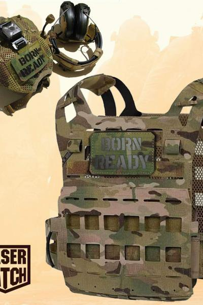 Born Ready Military Multicam Laser Patch
