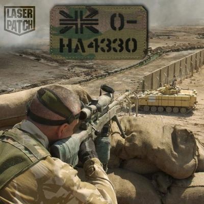 British Soldiers Military Multicam Laser Patch