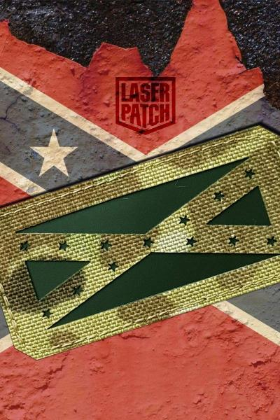 Confederate Usa Flag Tactical Multicam Laser Patch