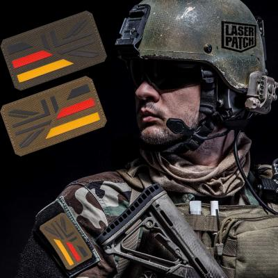 Deutschland England Flagge Tactical Military Laser Patch