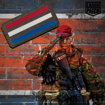 Dutch Holland Royal Army Flag Laser Patch