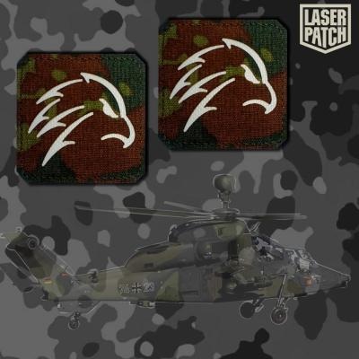 Falke Bundeswehr Flecktarn Tactical Laser Patch
