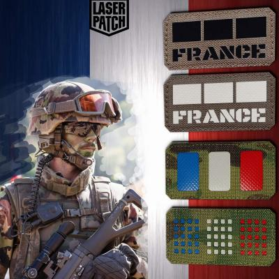 France Legion Military Flag Laser Patch