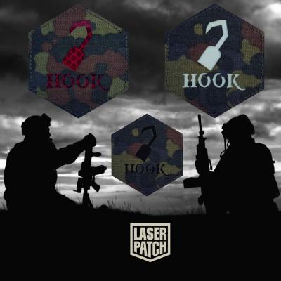 Hook Airsoft Flecktarn Tactical Laser Patch