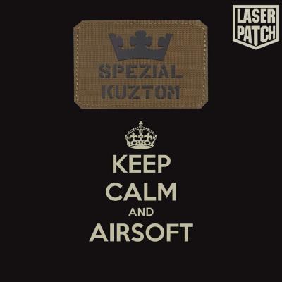 Keep Calm Callsign Airsoft Laser Patch