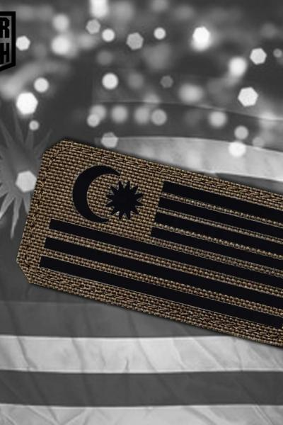 Malasyia Flagge Tactical Laser Patch1