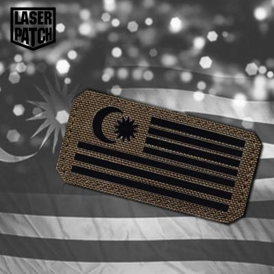 Malasyia Flagge Tactical Laser Patch