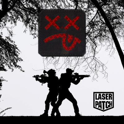 Military Smile Tactical Laser Patch