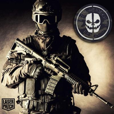 Scull Tactical Military Laser Patch
