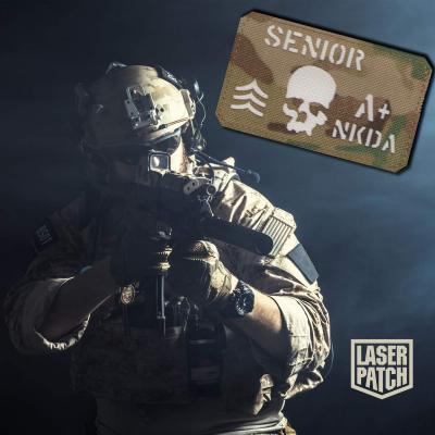 Skull Military Tactical Multicam Laser Patch