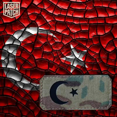Turkey Flage Military Army Laser Patch