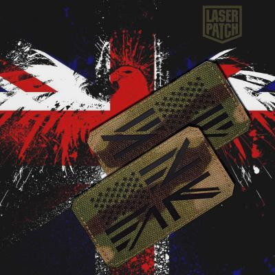 Usa Uk Flag Army Multicam Tactical Laser Patch