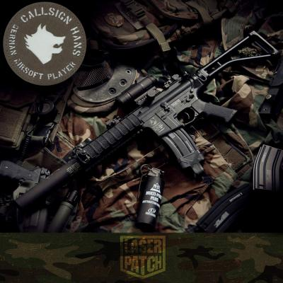 Wolf Callsign Airsoft Laser Patch